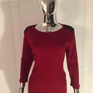 Lauren Ralph Lauren Red Cotton Top